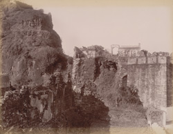 Exterior of subterranean passage of Dowlatabad Fort.